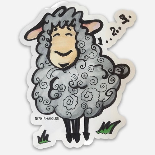 Counting Sheep Die Cut Sticker