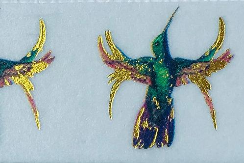 Foil Accented Hummingbird Washi Tape