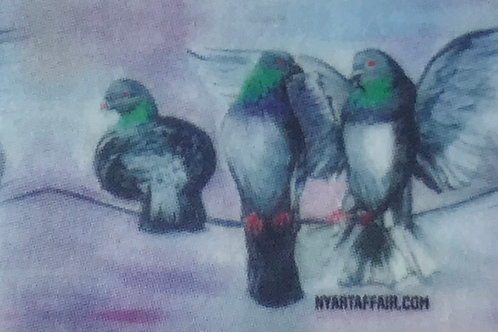 Pigeons on the wire- Washi Tape