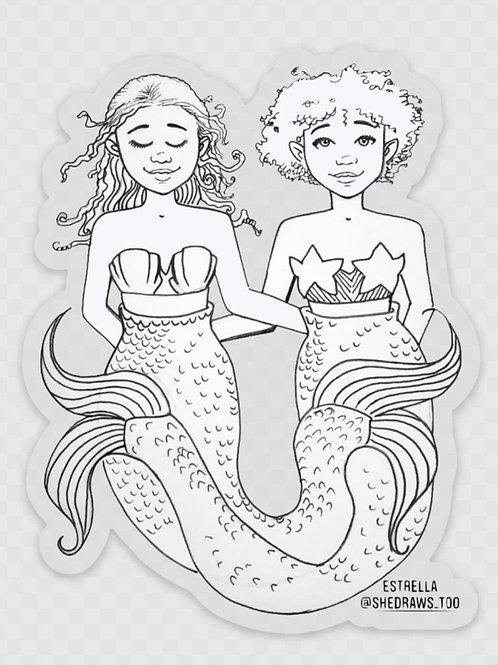 Bitch, I'm a Mermaid Transparent Sticker