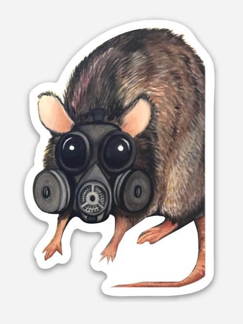 NYC Rat Die Cut Sticker