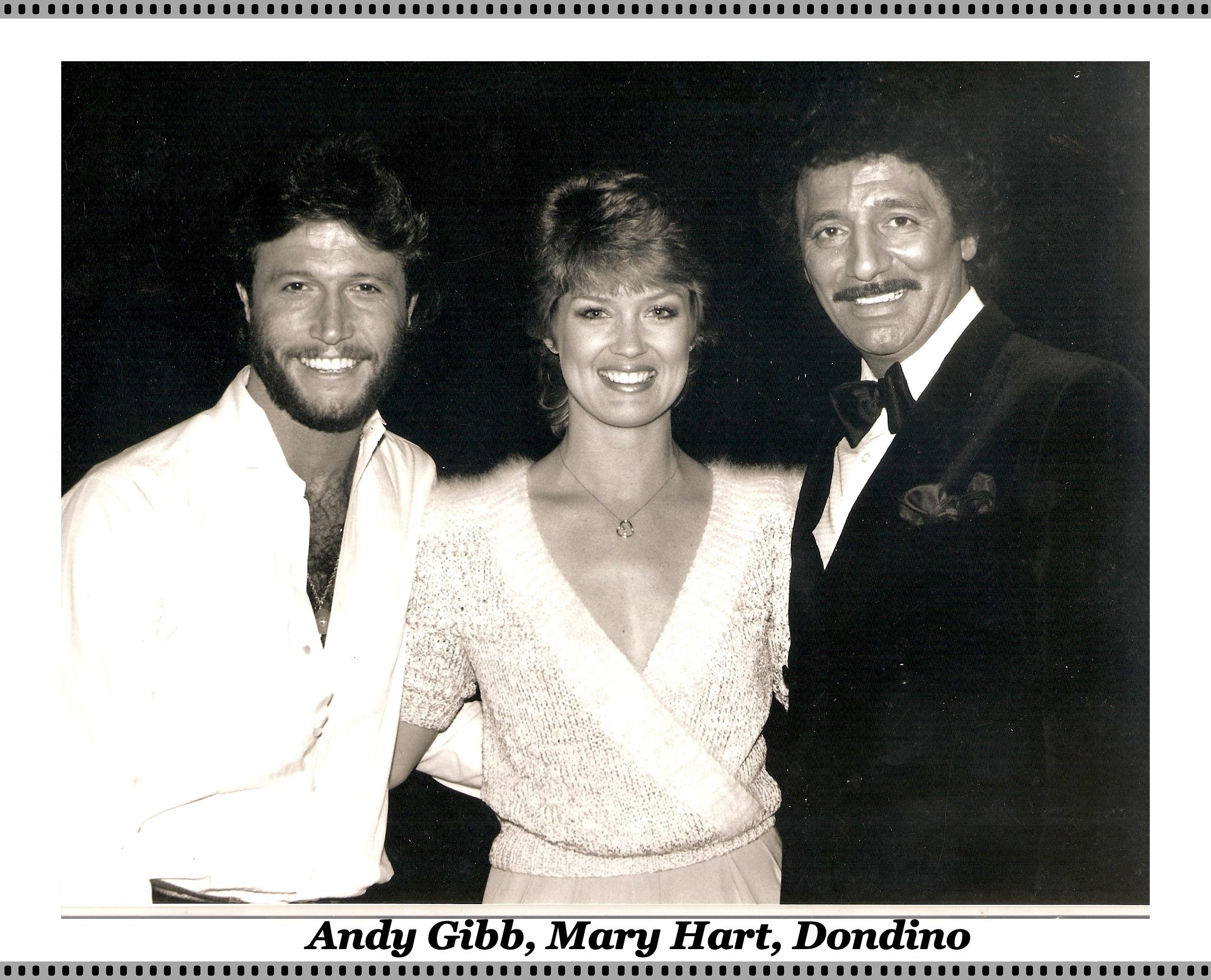 Andy Gibb, Mary Hart, Dondino