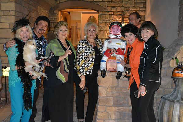 gang honoring Tony 2020 Halloween party