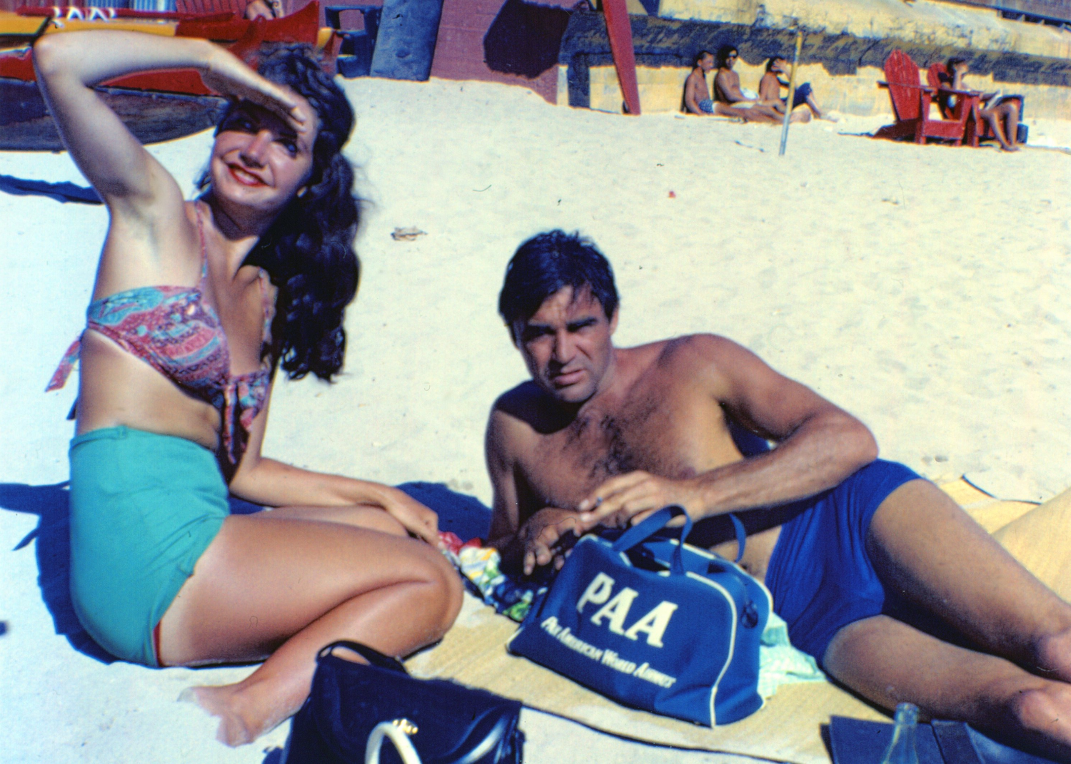 Actor Steve Cochran & Cindy - Hawaii_edited