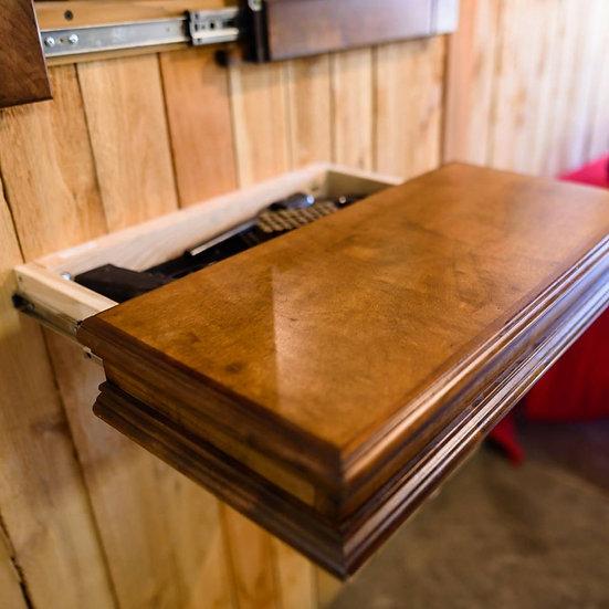 American Concealed Hidden Gun Floating Shelf