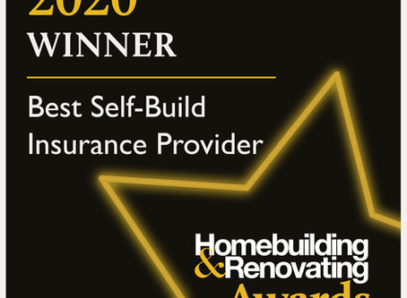 We have WON! Best Self-Build Insurance Provider