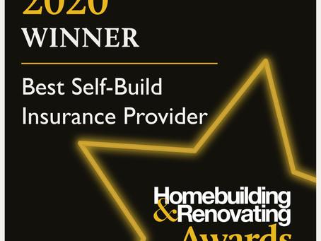 We have WON! Best Self-Build Insurance Provider