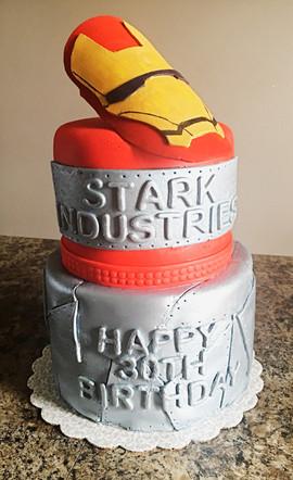 30th Birthday Iron Man Cake