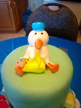 Baby Shower Cake - Stork