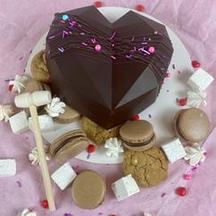 Dark Belgium Chocolate Smash Cake