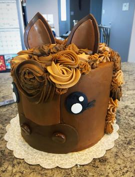 Surprise 30th Birthday Horse Cake