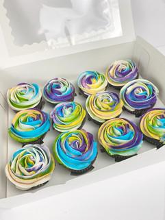 Tie die inspired cupcakes