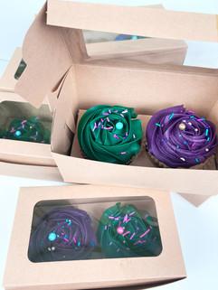 Vibrant color cupcakes