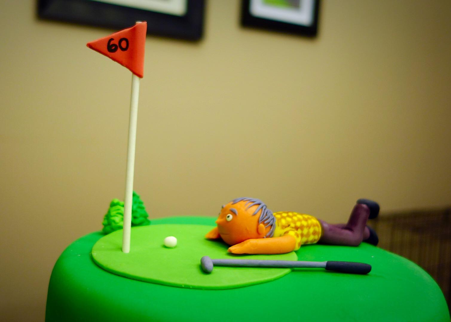 60th Birthday Cake Golfer