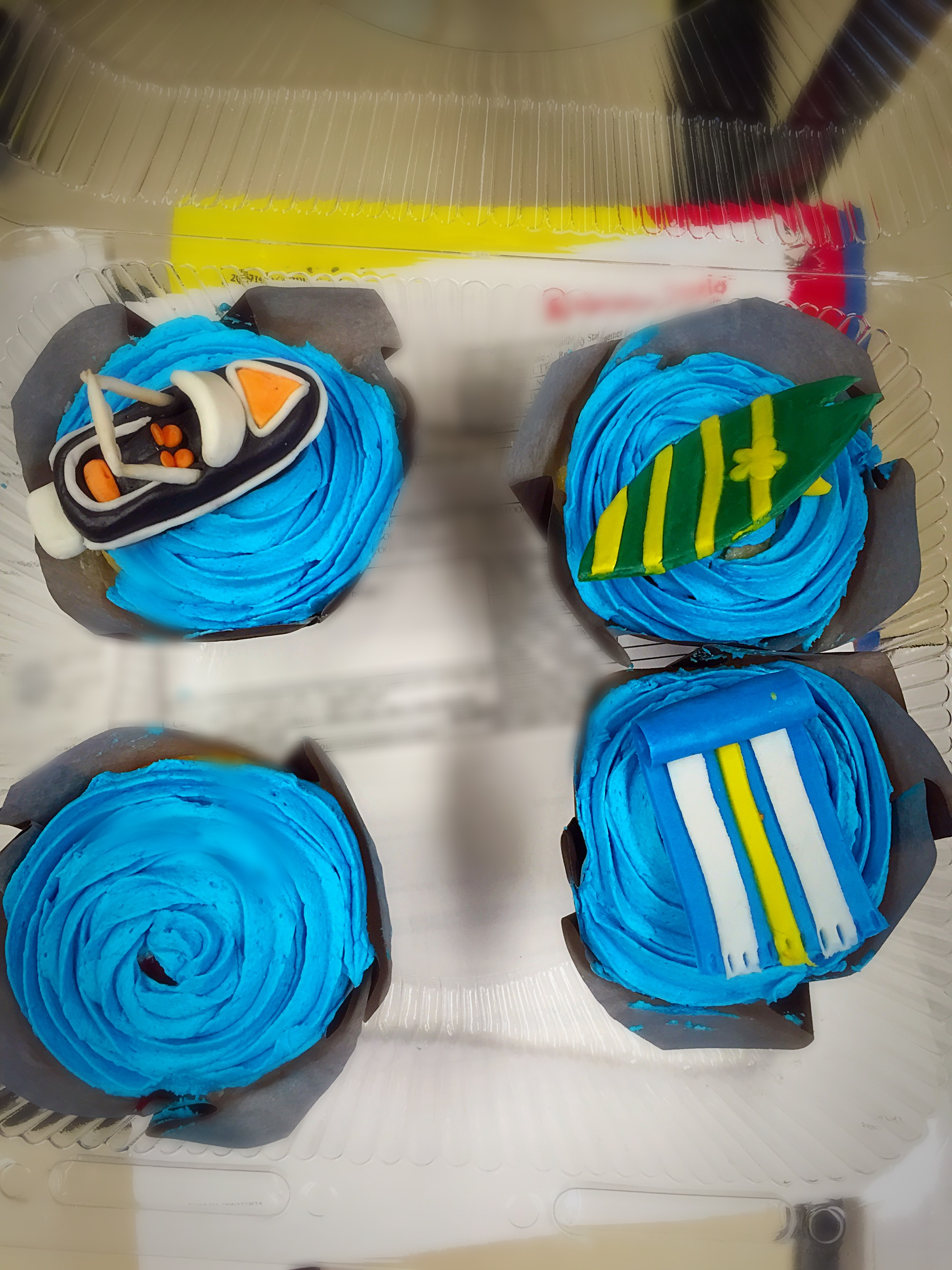 Water Activity Cupcakes