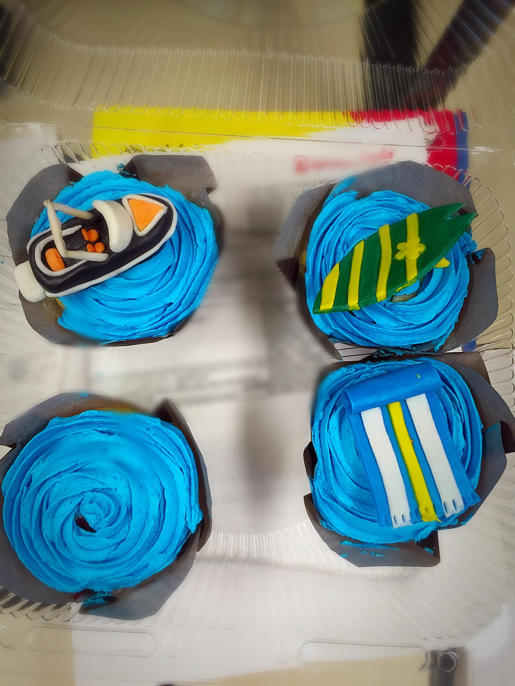 Birthday Water Activity Cupcakes