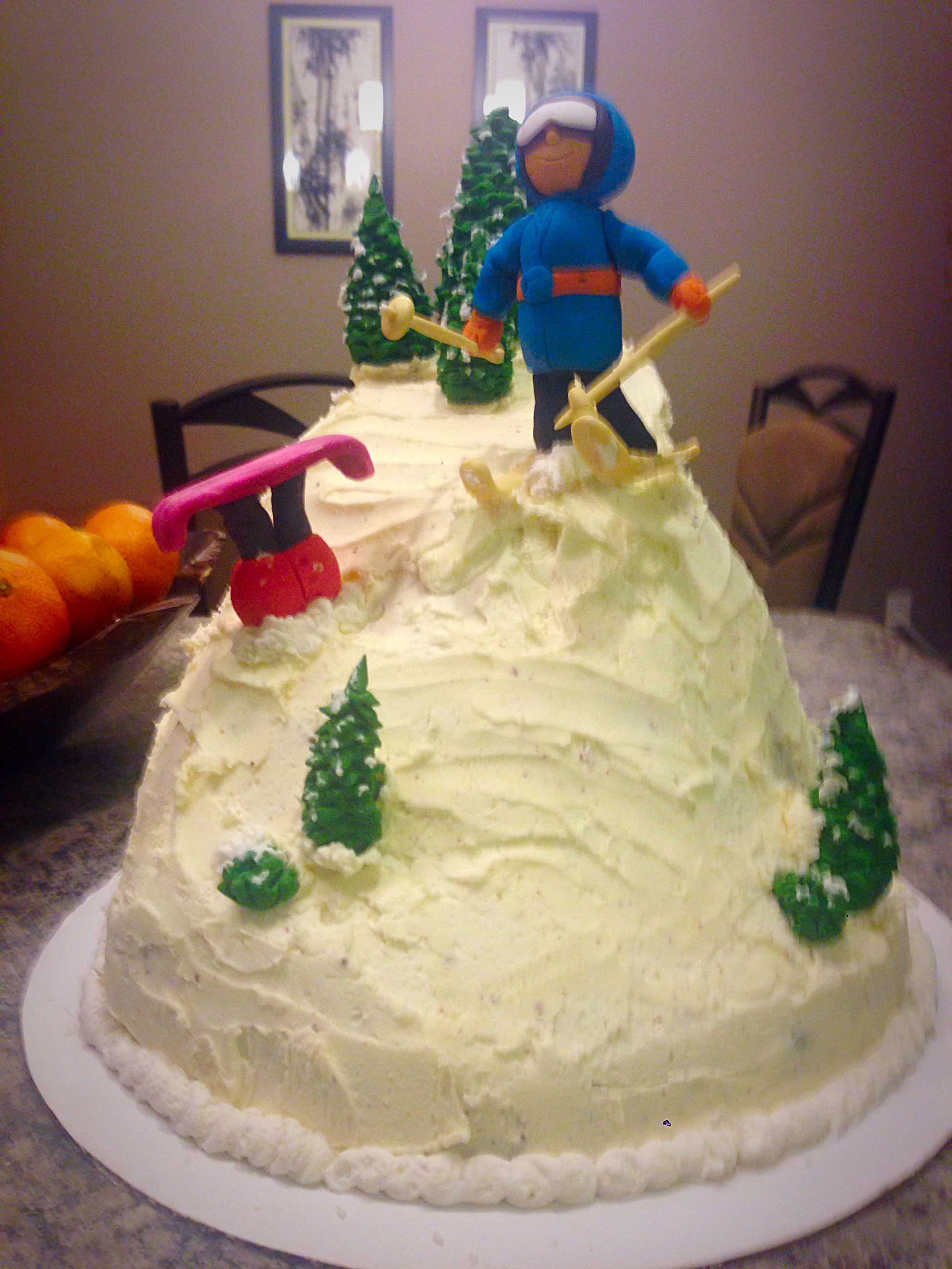 25th Birthday Skiing Cake