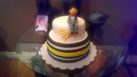 50th Birthday Cake with Custom Topper
