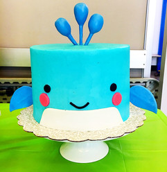 Having a Whale of a Time 1st Birthday Cake