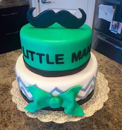 Little Man Baby Cake