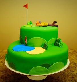 60th Golf Birthday Cake