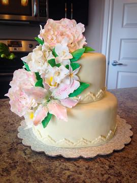 2 tier bridal shower cake