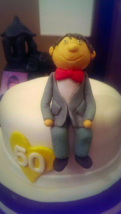 50th Birthday Cake Custom Topper