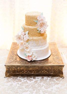 Gold Ombre Wedding Cake