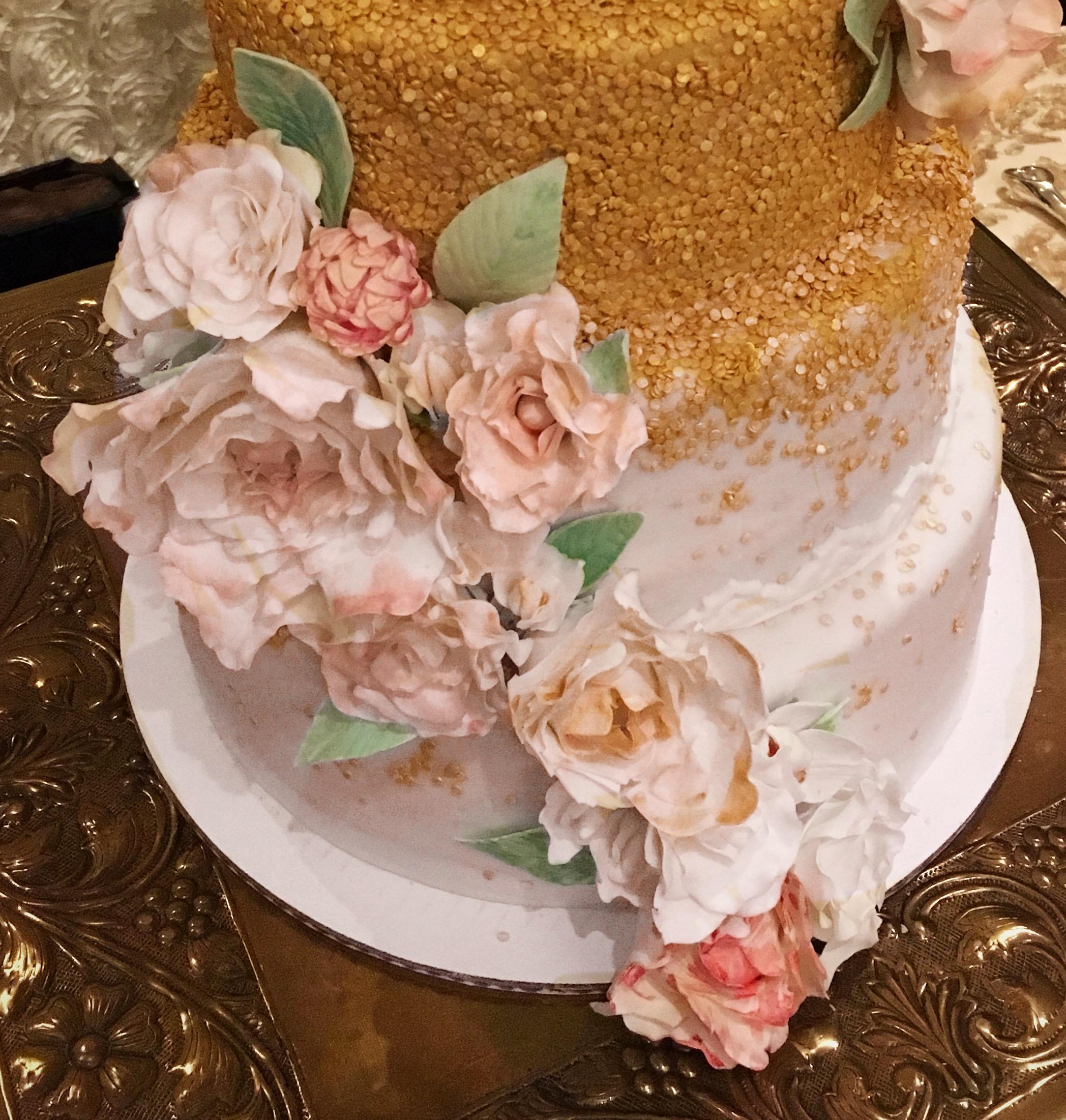 Handmade Flowers for wedding cake