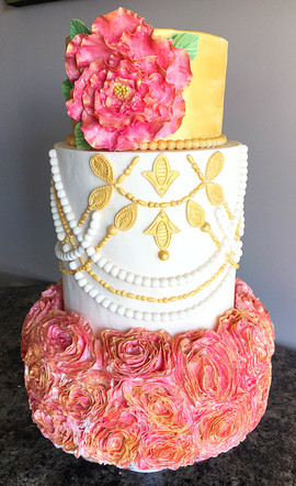 Rose and Gold Display Cake