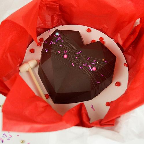 Dark Belgium Chocolate Smash Heart
