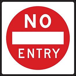 A no entry sign