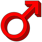Red Mars and male symbol