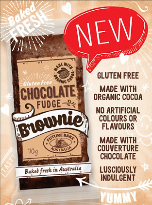 Future Bake Gluten Free Choc Fudge Brownie 70g