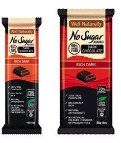 Well Naturally Dark Chocolate 45g & 90g