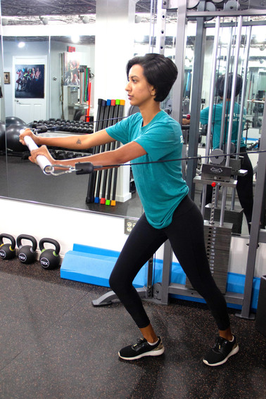 Standing Chest Press Exercise