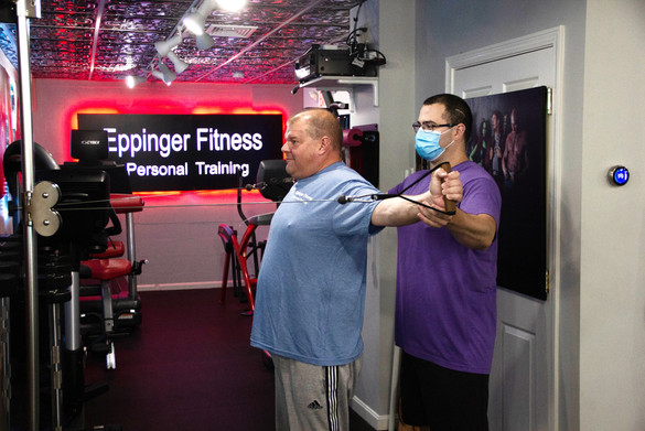 Correcting Form at Eppinger Fitness