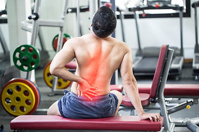 man have injury a back pain after workou