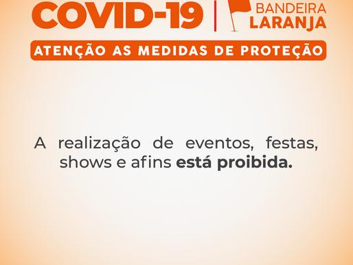 NOVAS MEDIDAS DE ENFRENTAMENTO À COVID-19 NO MUNICÍPIO PASSAM A VIGORAR A PARTIR DO PRÓXIMO DOMINGO
