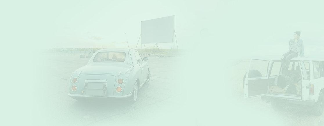 Image d'arrière-plan d'un cinéma en plein air.