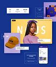 Boutique en ligne d'une marque de mode qui présente des articles à acheter, des éléments du backoffice de la boutique en version mobile.