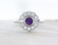 Unique Art Deco Engagement Ring
