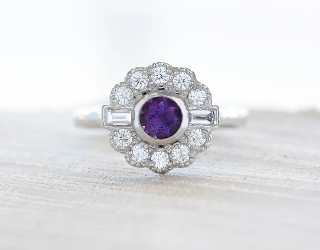 Unique Art Deco Engagement Ring