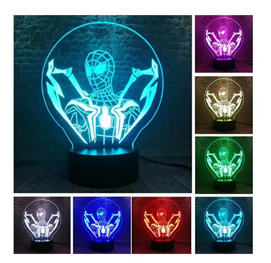 3D LED Marvel Ultimate Spider Man Lamp