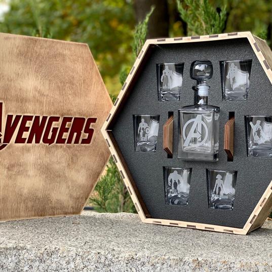 Avengers Christmas Gift Avengers Whiskey Glasses