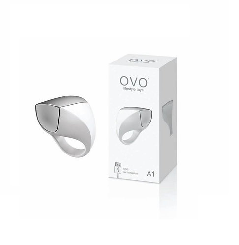 OVO A1 Rechargeable Cock Ring - White