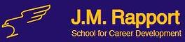 J. M. Rapport Logo Blue Background
