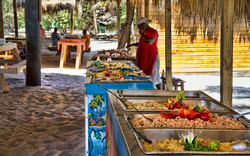 Lunch buffet in Cartalina island