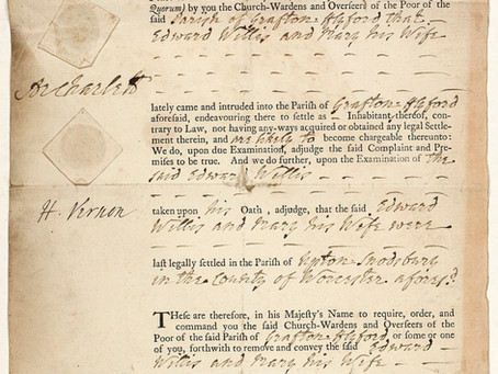 Edward Willis, removed to Upton Snodsbury