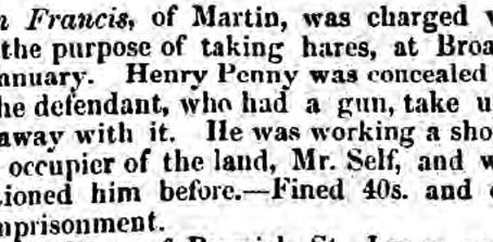 Henry Penny, gamekeeper